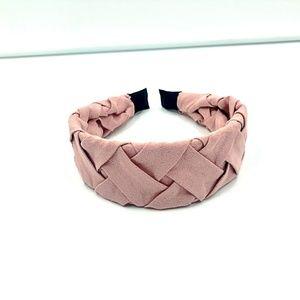 Anthropologie   Braided Wide Blush Pink Headband